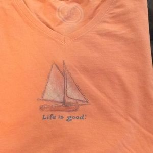 Life Is Good Tops - Life is good sailboat tee